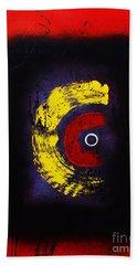 Beach Towel featuring the painting C Wa Ninshin No Tamedearu by Roberto Prusso