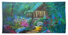 Cabin In The Woods Jenny Lee Discount Beach Towel