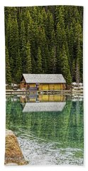 Cabin On Lake Louise Beach Towel