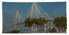 Cable Stayed Bridge Beach Towel