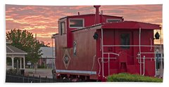 Caboose 1 Beach Towel