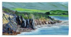 Cabot Trail Coastline Beach Towel