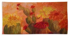 Cactus Garden Beach Sheet by Ellen Levinson