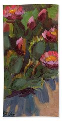 Cactus In Bloom 2 Beach Towel