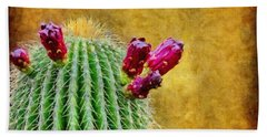 Cactus With Flowers Beach Towel