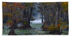Caddo Lake Morning Beach Towel