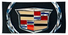 Cadillac Emblem Beach Sheet by Jill Reger