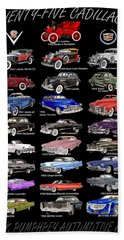 25 Cadillacs In A Poster  Beach Sheet