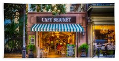 Cafe Beignet Morning Nola Beach Towel