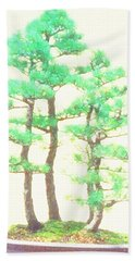 Caitlin Elm Bonsai Tree Beach Sheet