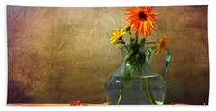 Calendula Officinalis Beach Towel by Randi Grace Nilsberg