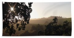 Beach Towel featuring the photograph Cali Sun Set by Shawn Marlow