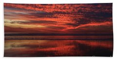 Cardiff Afterglow  Beach Towel
