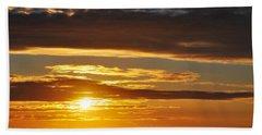 Beach Sheet featuring the photograph California Central Coast Sunset by Kyle Hanson