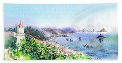 Lighthouse Trinidad California Beach Towel
