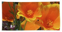 California Poppies Beach Sheet by Ben and Raisa Gertsberg