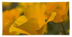 California Poppies Beach Sheet by Bryan Keil
