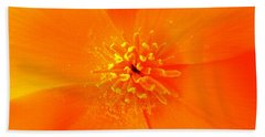 California Poppy Beach Sheet by Julia Ivanovna Willhite