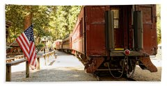 California Western Railroad Beach Towel