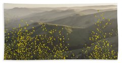Beach Towel featuring the photograph California Wildflowers by Steven Sparks