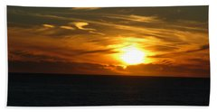 California Winter Sunset Beach Towel