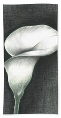 Beach Sheet featuring the photograph Calla Lily by Troy Levesque