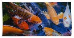 Beach Sheet featuring the photograph Calm Koi Fish by Jerry Cowart