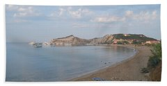 Beach Towel featuring the photograph Calm Sea by George Katechis