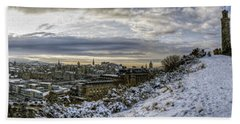 Calton Hill Panorama Beach Sheet