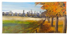 Beach Towel featuring the painting Camden Farm by Pamela  Meredith