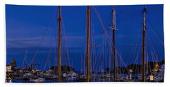 Camden Harbor Maine At 4am Beach Towel