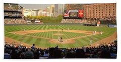 Camden Yards Baseball Game Baltimore Beach Towel