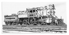 Camelback Engine Number 1027 Beach Sheet by Ira Shander