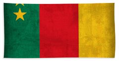 Cameroon Flag Vintage Distressed Finish Beach Towel