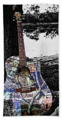 Camo Guitar Beach Towel