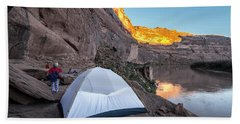 Camping Along The Labyrinth Canyon Beach Towel