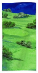 Campo Da Golf Di Notte Beach Towel