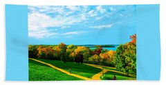 Campus Fall Colors Beach Towel by Zafer Gurel