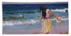 Can You Imagine Beach Towel by Laura Lee Zanghetti