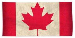 Canada Flag Vintage Distressed Finish Beach Towel