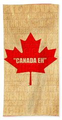 Canada Music 1 Beach Towel