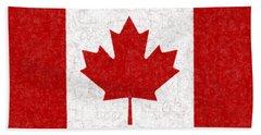 Canadian Flag Batik Beach Towel