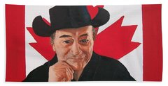 Canadian Icon Stompin' Tom Conners  Beach Sheet by Sharon Duguay