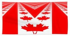 Canadian Perspective Flag Beach Towel
