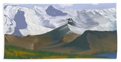Canadian Rockies Beach Towel by Terry Frederick