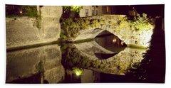 Canal Bridge Reflection Beach Sheet