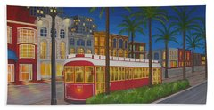 Canal Street Car Line Beach Sheet