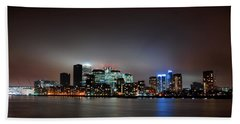 London Skyline Beach Towel by Mark Rogan