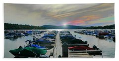 Candlewood Lake Beach Towel by Diana Angstadt