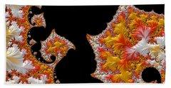 Beach Towel featuring the digital art Candy Corn by Susan Maxwell Schmidt